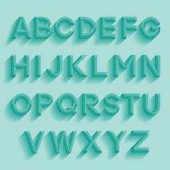 Decorative retro alphabet