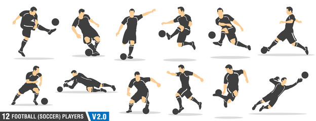 12 vector set of football (soccer) players 02