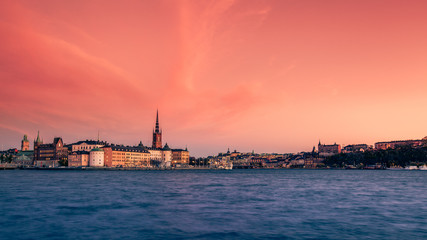 Autumn Sunset of Stockholm