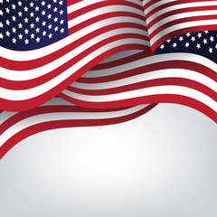 American flag background with copy space. EPS 10 vector illustration.