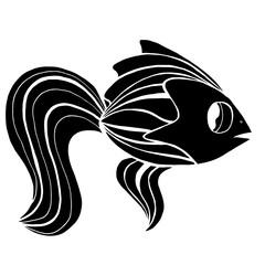 Monochrome stylized Fish