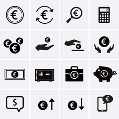 Euro Finance and Money Icons