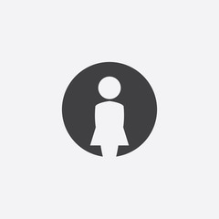female cutted identity template icon
