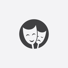 theater cutted identity template icon