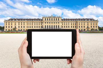 photographs of Schloss Schonbrunn palace in Vienna