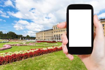 photographs of garden in Schloss Schonbrunn palace
