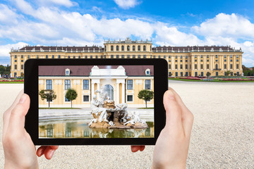 picture of fountain near Schloss Schonbrunn palace