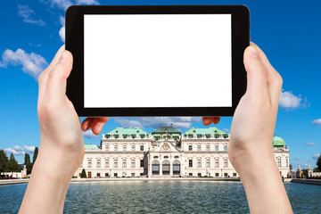 photographs Upper Belvedere Palace in Vienna