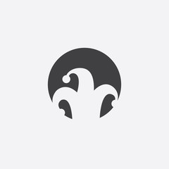 joker cutted identity template icon