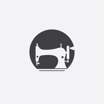 sewing machine cut identity template icon