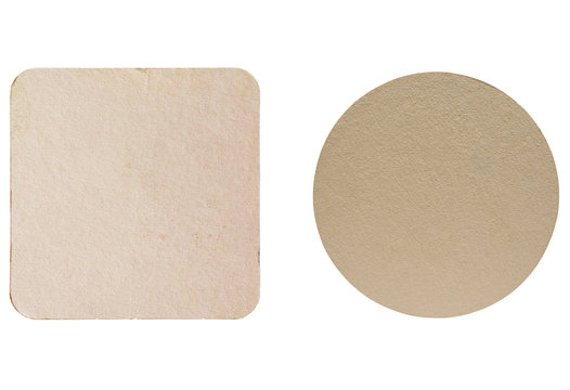 Beermat drink coaster isolated