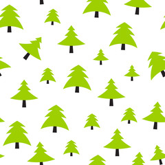 Christmas Tree Pattern Background Vector Illustration