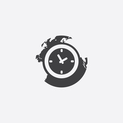 time globe cut identity template icon