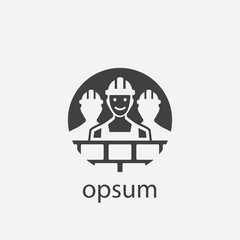 worker group cut identity template icon