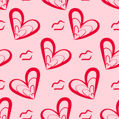 Seamless Romantic Pink Green Pattern