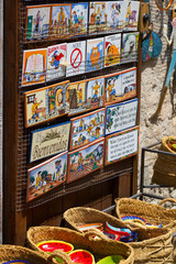 Sale of  tourist gifts at  Besalu