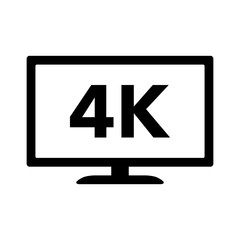 4K Ultra HD / UHD HDTV flat icon for apps and websites
