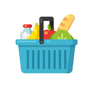Supermarket basket illustration