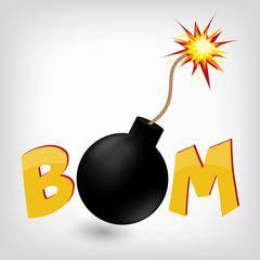 Cartoon comics vector bomb