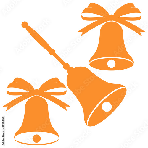 quotchristmas bells silhouette vector illustrationquot stock