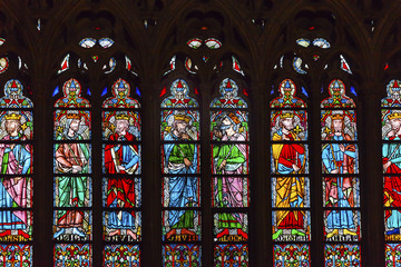 Kings Stained Glass Notre Dame Cathedral Paris France