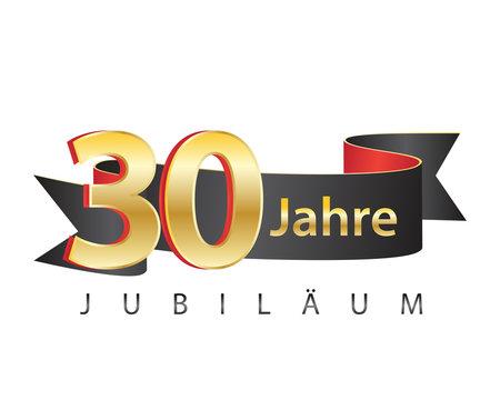 30 jahre jubiläum schwarz logo