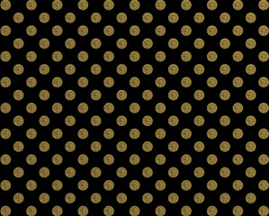 Polka pattern golden dot