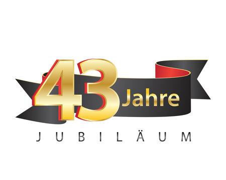 43 jahre jubiläum schwarz logo