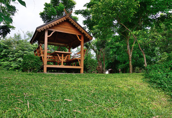 little summerhouse made of wood