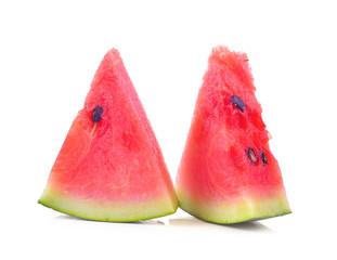 water melon slice on white background