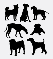 Dog pet shop symbol silhouette. Good use for symbol, logo, web icon, mascot, game elements, or any design you want. Easy to use.
