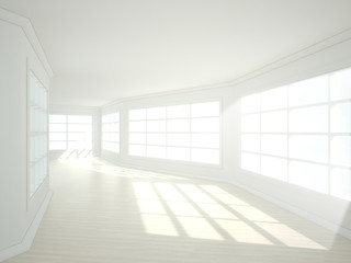 3d illustration of empty modern interior