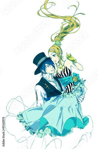 お姫様と王子様お姫様抱っこをするカップルfotoliacom の ストック