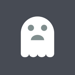 Ghost icon. Halloween icon. Spooky icon.