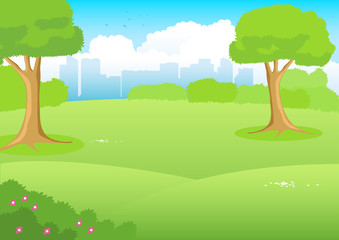 City Park Cartoon