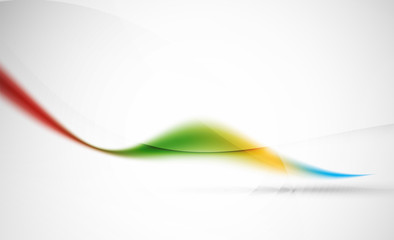 Wave abstract background. Business hi-tech presentation template or advertising layout