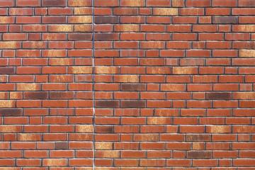 Ziegelsteine Backstein- Wand