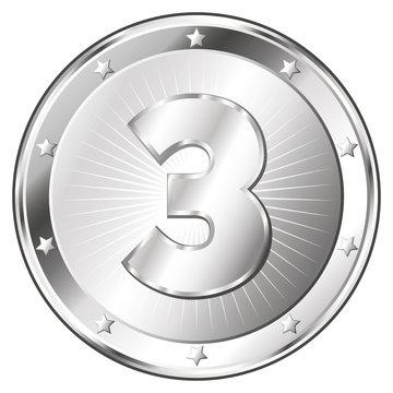 Three Year Anniversary - Round Silver Badge