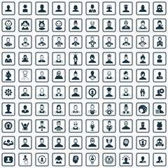 avatar 100 icons universal set