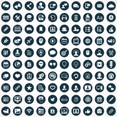 blog 100 icons universal set