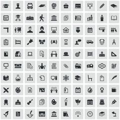 school 100 icons universal set