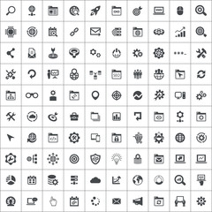 seo 100 icons universal set
