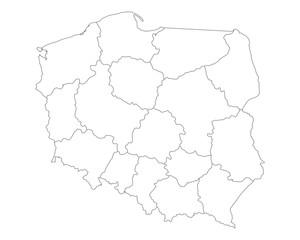 Karte von Polen