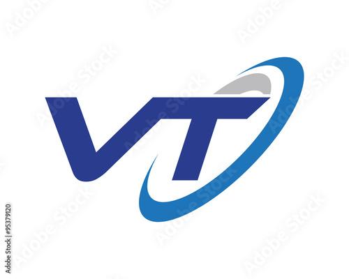 quot vt letter swoosh media technology logo quot  stock image and free swoosh vectors Swoosh Fonts Free Download