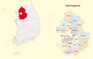 south korea gyeonggi province map