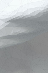 White grayish abstract polygonal surface - vertical background