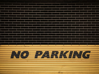 Grungy No Parking Sign