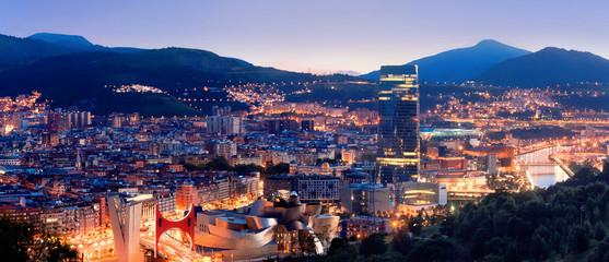 View of city Bilbao, Spain