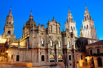 Cathedral of Santiago de Compostela. Galicia, Spain Wall mural