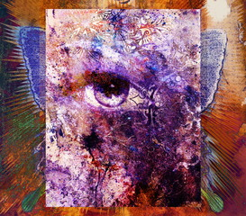women eye painting, make up